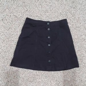 Black Button Up Skirt